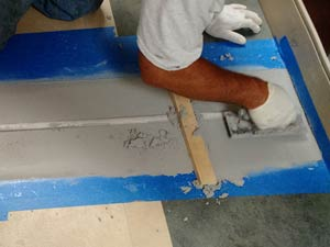 Concrete repaired around the expansion joint using Belzona 4111